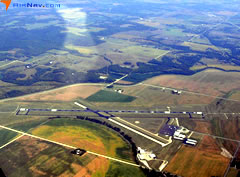 Aerial photo of KLWC (Lawrence Municipal Airport)