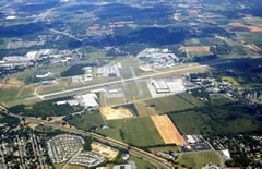 Aerial photo of KHGR (Hagerstown Regional Airport-Richard A Henson Field)