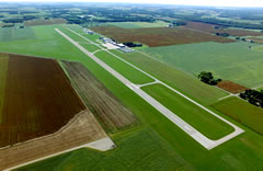 Aerial photo of KGSH (Goshen Municipal Airport)