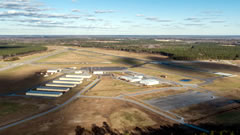 Aerial photo of KSFQ (Suffolk Executive Airport)