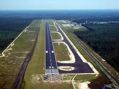 Aerial photo of KHSA (Stennis International Airport)