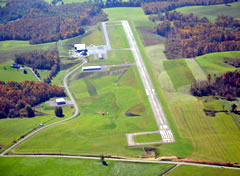 Aerial photo of KHLX (Twin County Airport)
