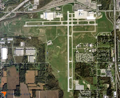Aerial photo of KFNT (Bishop International Airport)