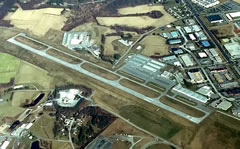 Aerial photo of KDMW (Carroll County Regional Airport/Jack B Poage Field)