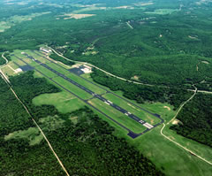 Aerial photo of KOWP (William R Pogue Municipal Airport)