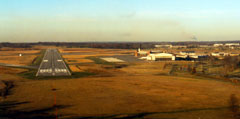 Aerial photo of KFTK (Godman Army Airfield)