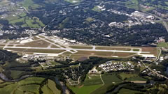 Aerial photo of KBTV (Burlington International Airport)
