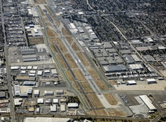 Aerial photo of KVNY (Van Nuys Airport)