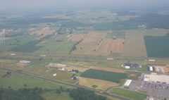 Aerial photo of KEKQ (Wayne County Airport)