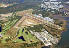 Aerial photo of KOXB (Ocean City Municipal Airport)