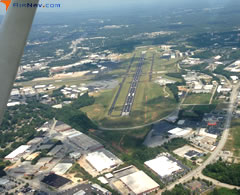 Aerial photo of KGMU (Greenville Downtown Airport)