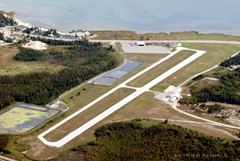 Aerial photo of 83D (Mackinac County Airport)