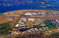 Aerial photo of KPDX (Portland International Airport)