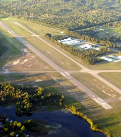 Aerial photo of KACB (Antrim County Airport)