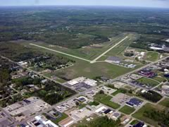 Aerial photo of KLDM (Mason County Airport)