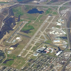 Aerial photo of KFTW (Fort Worth Meacham International Airport)
