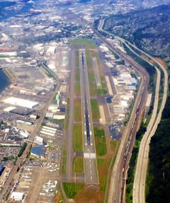 Aerial photo of KBFI (Boeing Field/King County International Airport)