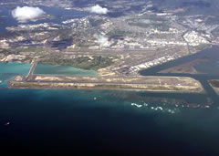 Aerial photo of PHNL (Daniel K Inouye International Airport)