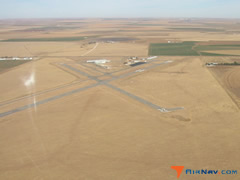 Aerial photo of KDUX (Moore County Airport)