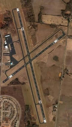 Aerial photo of KCKV (Outlaw Field Airport)