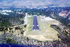 Aerial photo of KLAM (Los Alamos Airport)