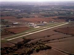 Aerial photo of KOXV (Knoxville Municipal Airport)
