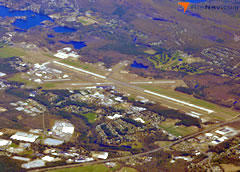 Aerial photo of KBAF (Westfield-Barnes Regional Airport)