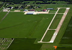 Aerial photo of KCHK (Chickasha Municipal Airport)