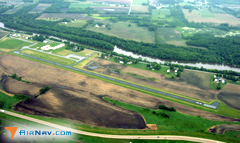 Aerial photo of 61C (Fort Atkinson Municipal Airport)