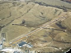 Aerial photo of KRWL (Rawlins Municipal Airport/Harvey Field)