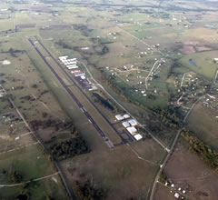 Aerial photo of 11R (Brenham Municipal Airport)