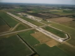 Aerial photo of KEWK (Newton City/County Airport)