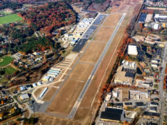 Aerial photo of KASH (Boire Field Airport)