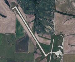 Aerial photo of KEVU (Northwest Missouri Regional Airport)