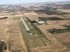 Aerial photo of KAOH (Lima Allen County Airport)