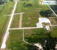 Aerial photo of KSLH (Cheboygan County Airport)