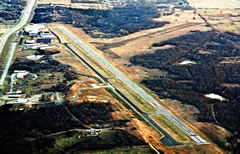 Aerial photo of KSRE (Seminole Municipal Airport)