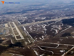 Aerial photo of KRST (Rochester International Airport)