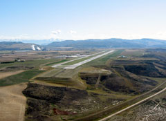 Aerial photo of KHDN (Yampa Valley Airport)