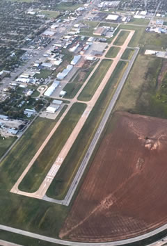 Aerial photo of KCWC (Kickapoo Downtown Airport)
