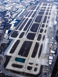 Aerial photo of KSJC (Norman Y Mineta San Jose International Airport)