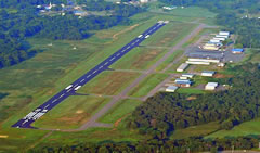 Aerial photo of KRUE (Russellville Regional Airport)