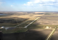 Aerial photo of KROX (Roseau Municipal Airport/Rudy Billberg Field)