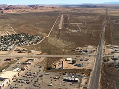 Aerial photo of 0V7 (Kayenta Airport)