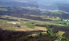 Aerial photo of KHLG (Wheeling Ohio County Airport)