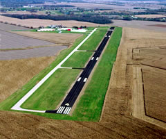 Aerial photo of KCFJ (Crawfordsville Municipal Airport)