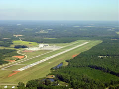 Aerial photo of KLHZ (Triangle North Executive Airport)
