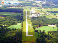 Aerial photo of KJXI (Fox Stephens Field - Gilmer Municipal Airport)