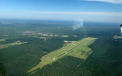 Aerial photo of KACP (Allen Parish Airport)