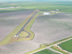 Aerial photo of 07R (Bishop Municipal Airport)
